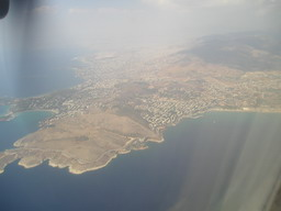 Approaching to Athens by Plane